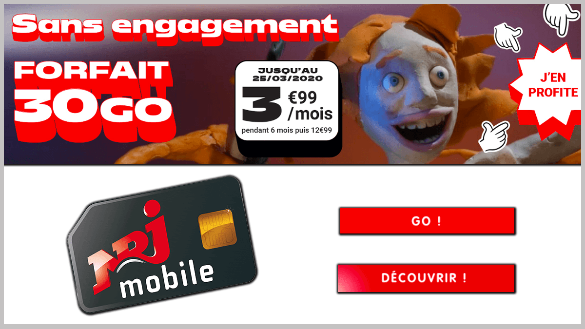 NRJ Mobile en promo