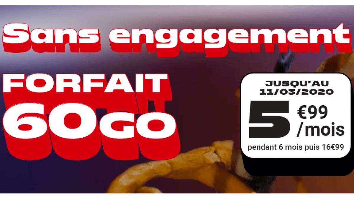 Le forfait sans engagement de NRJ Mobile est en promo pendant 6 mois.