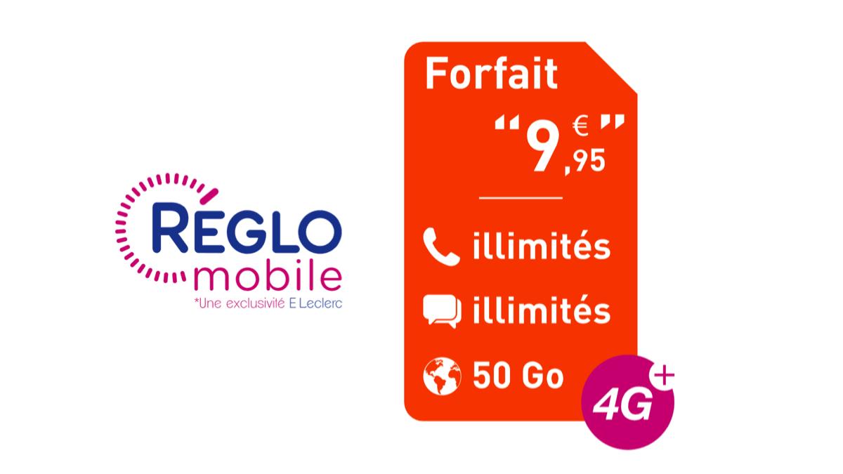 Le forfait pas cher Réglo Mobile est à 9,95€/mois