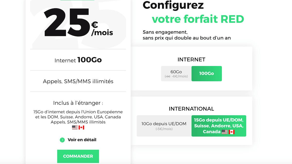 Le forfait RED by SFR propose plusieurs options selon ses envies