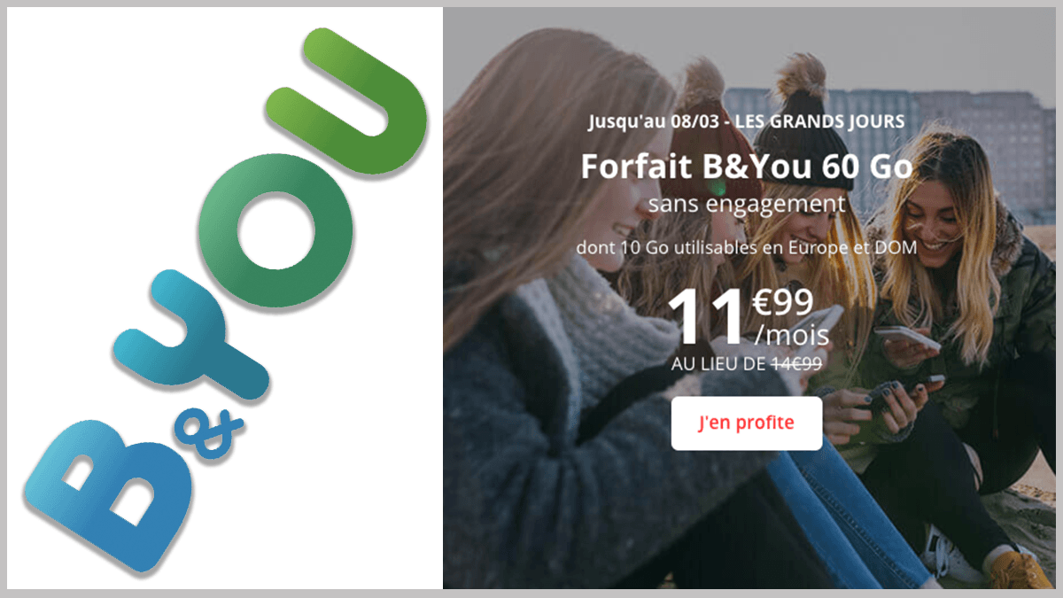 B&YOU : sans engagement avec option