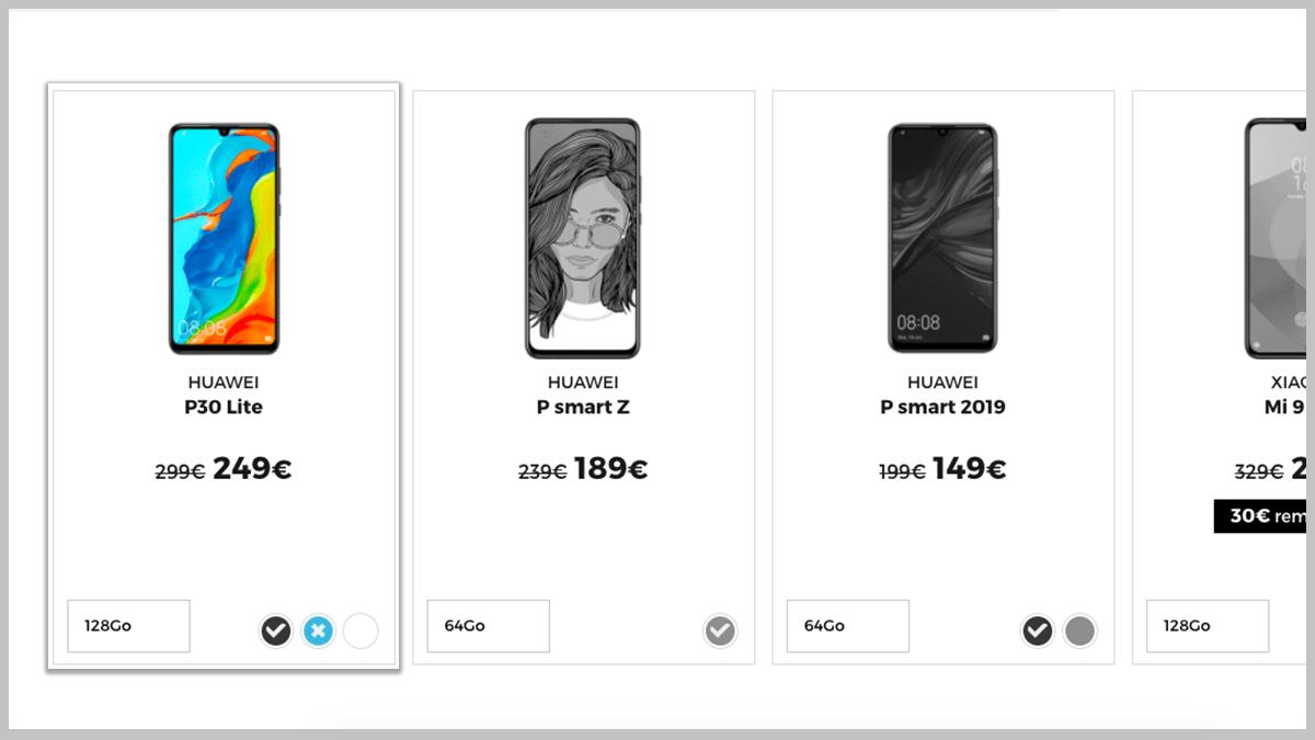 Le Huawei P30 Lite en promo
