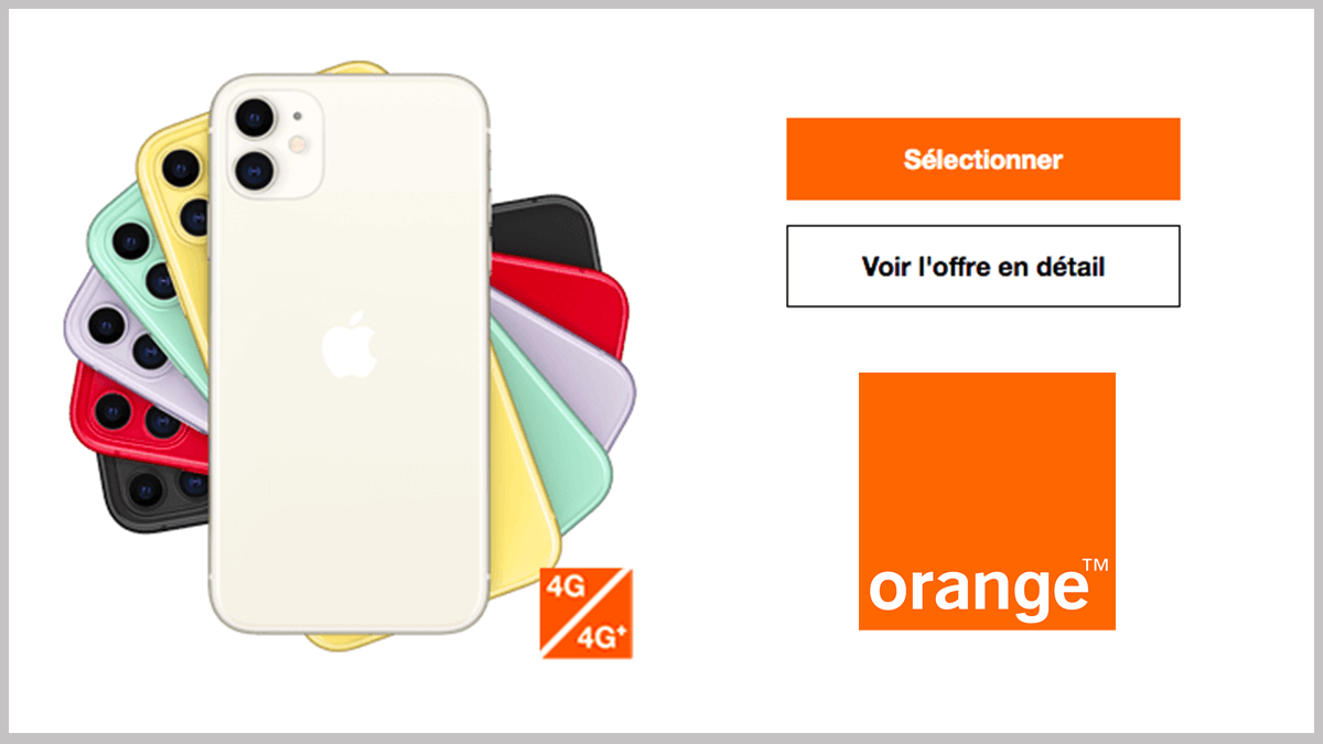 220€ pour l'iPhone 11 avec Orange.