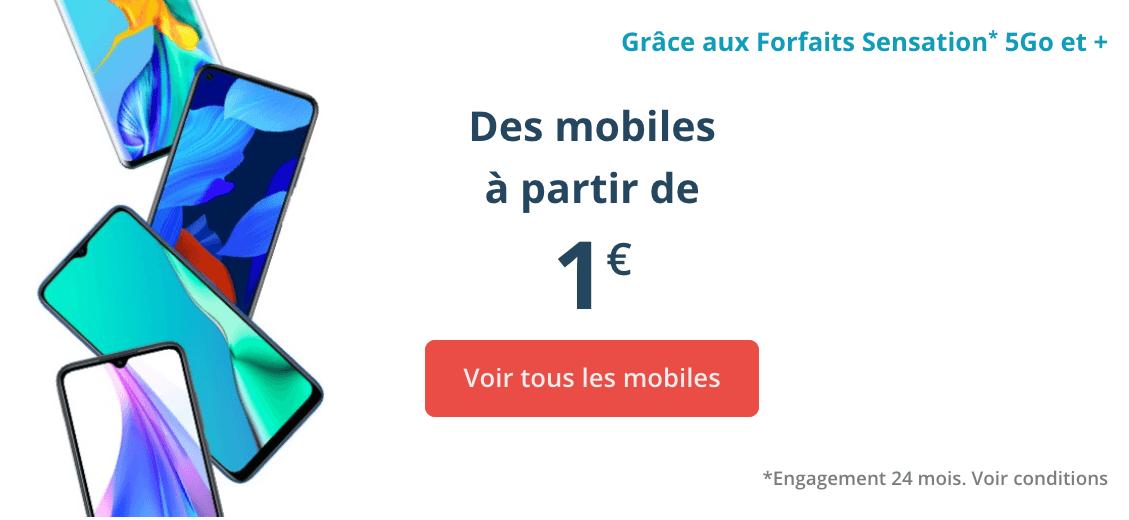 Des smartphones dès 1€