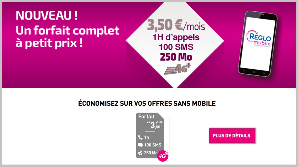Réglo Mobile propose plusieurs forfaits pas chers