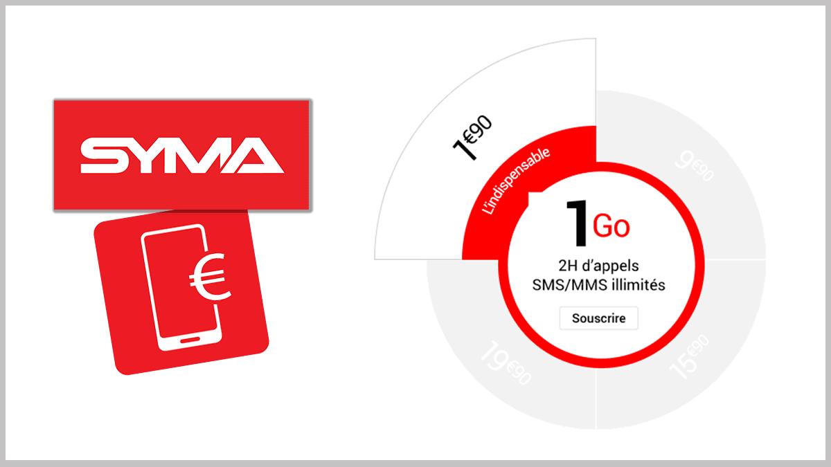 1 Go pour 1,90€ avec Syma Mobile