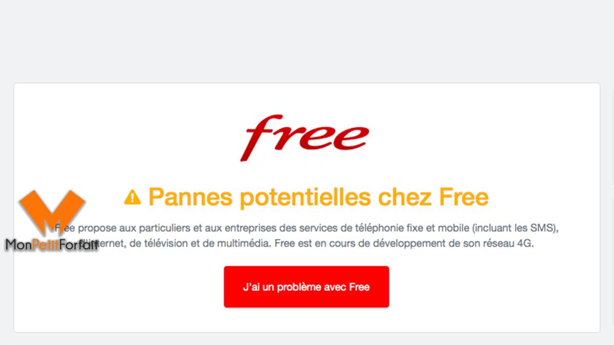 probleme connexion internet free aujourd hui