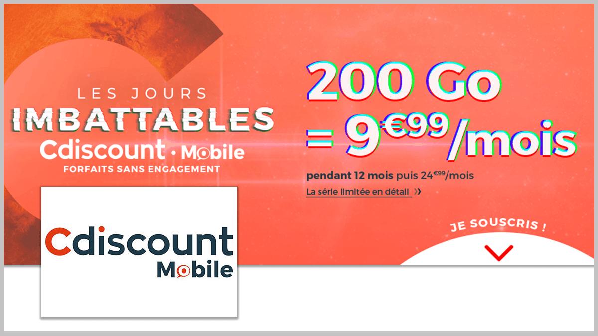 200 Go avec Cdiscount Mobile.
