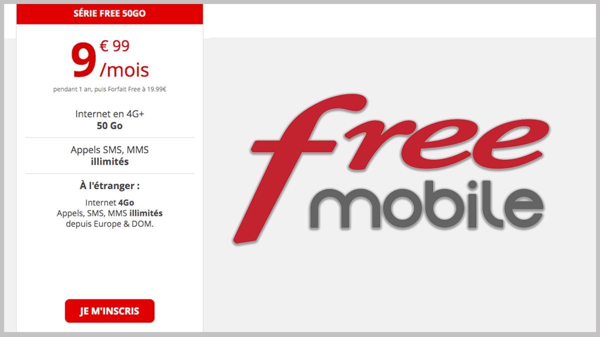 Série Free 50 à 10€/mois.