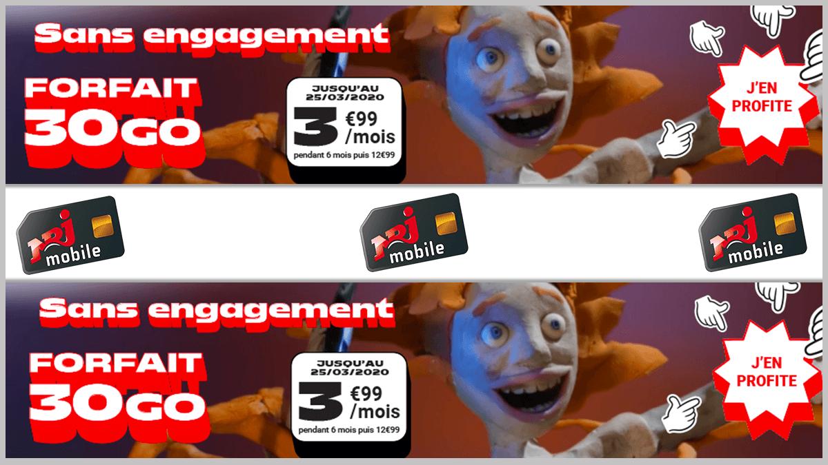 3,99€ seulement avec NRJ Mobile.