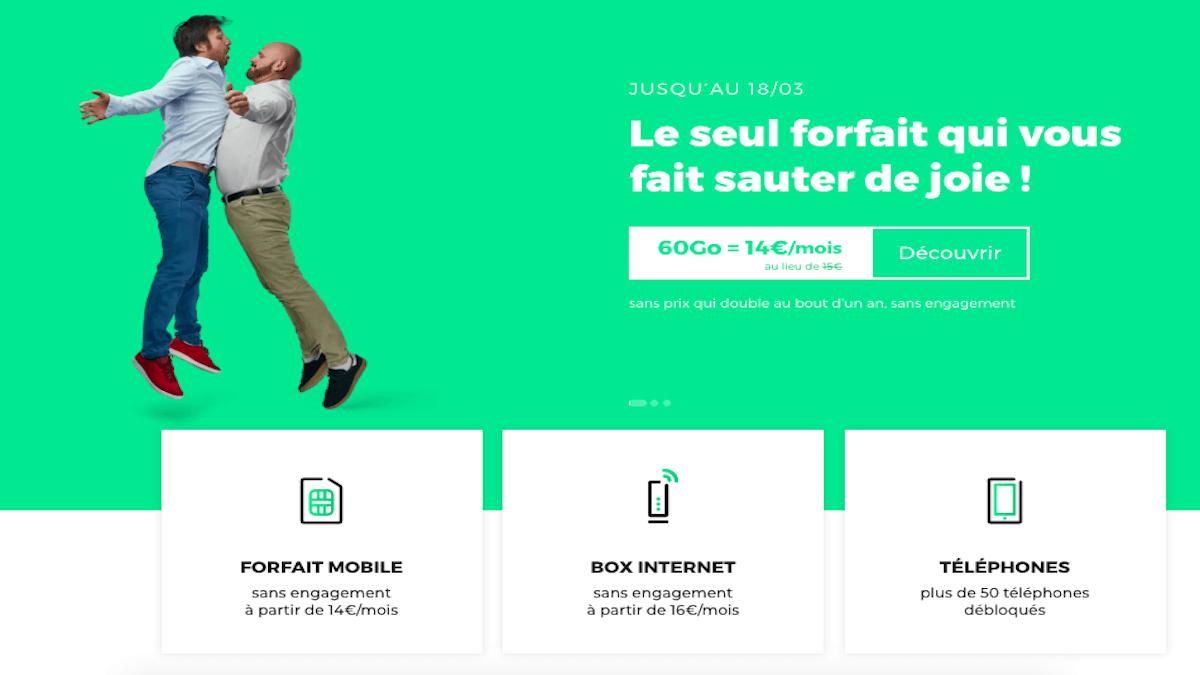 Forfait sans engagement 60 Go de RED by SFR