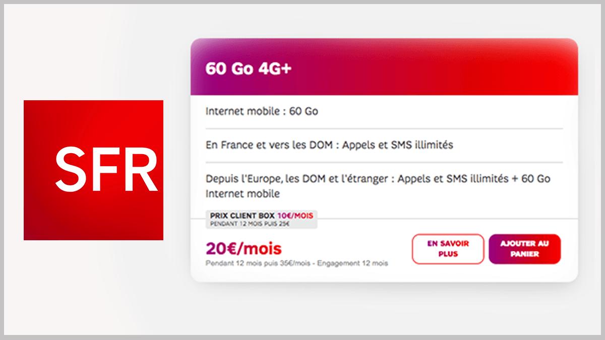60 Go et appels illimités avec SFR.
