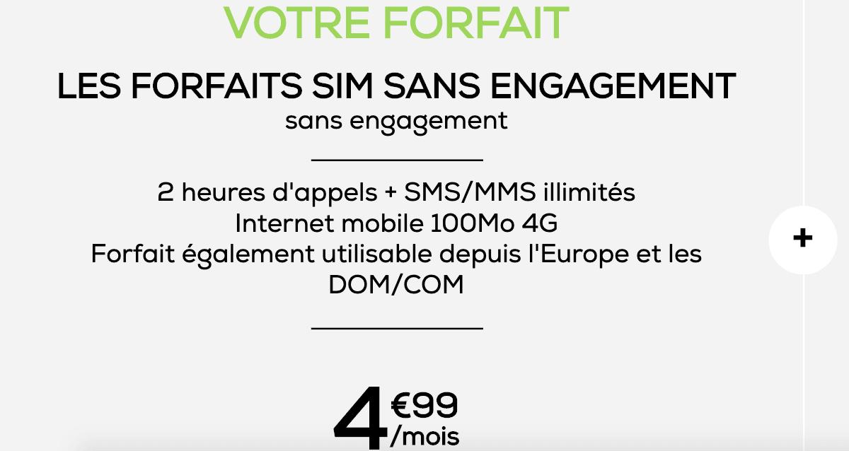 La Poste Mobile forfait à moins de 5€