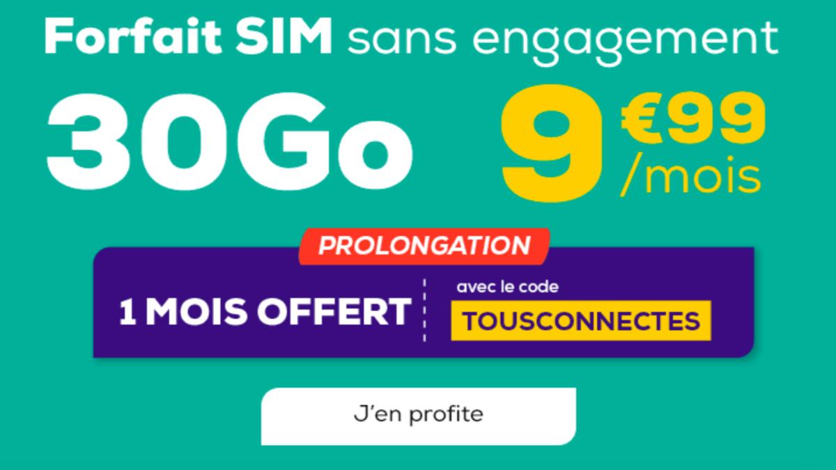 La Poste Mobile Forfait 30 Go en promo