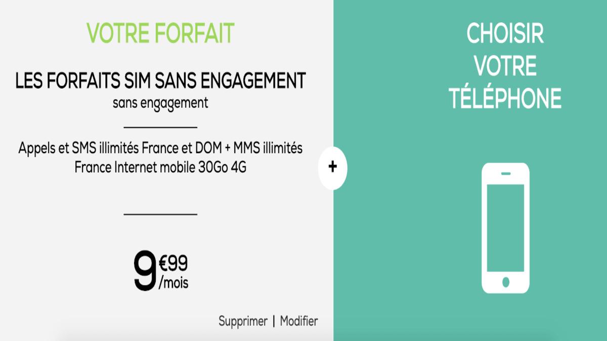 Des smartphones à prix réduit chez avec le forfait 30 Go.