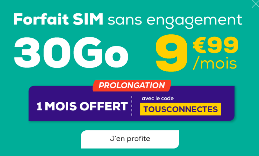 Code promo La poste mobile forfait 30 Go