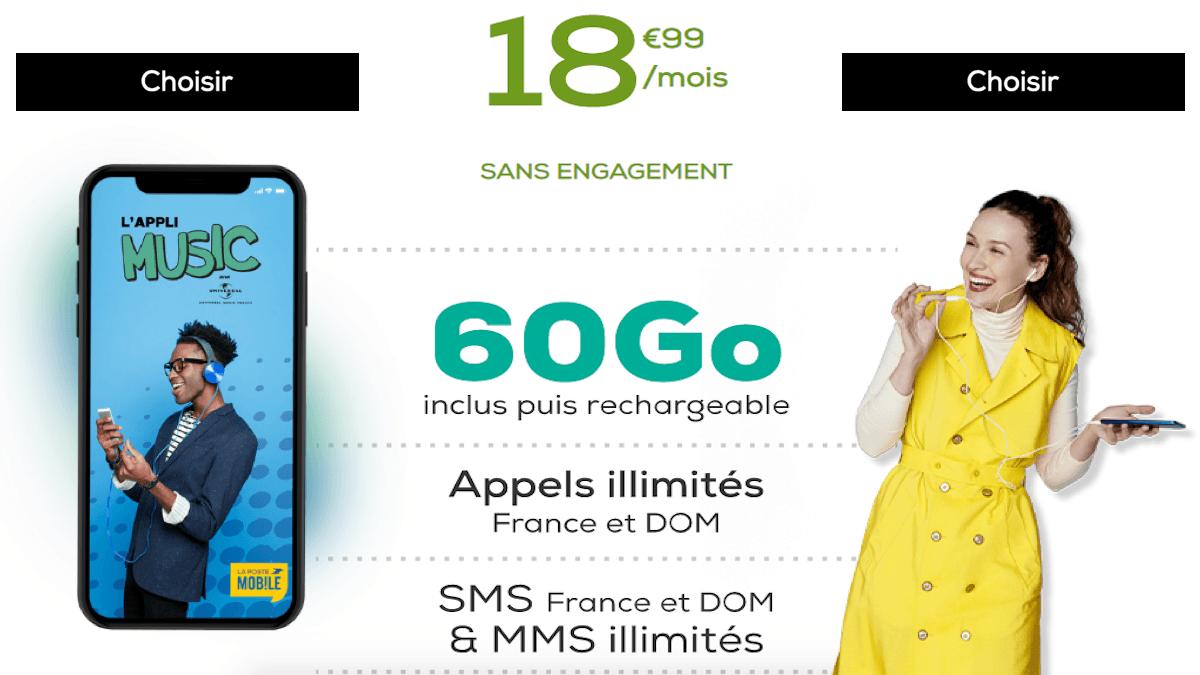 Code promo forfait 60 Go La Poste Mobile