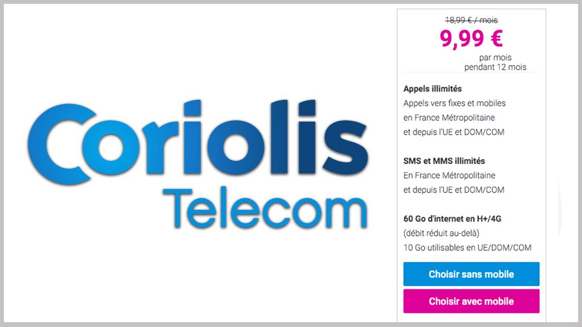 Coriolis Telecom en promotion 1 an