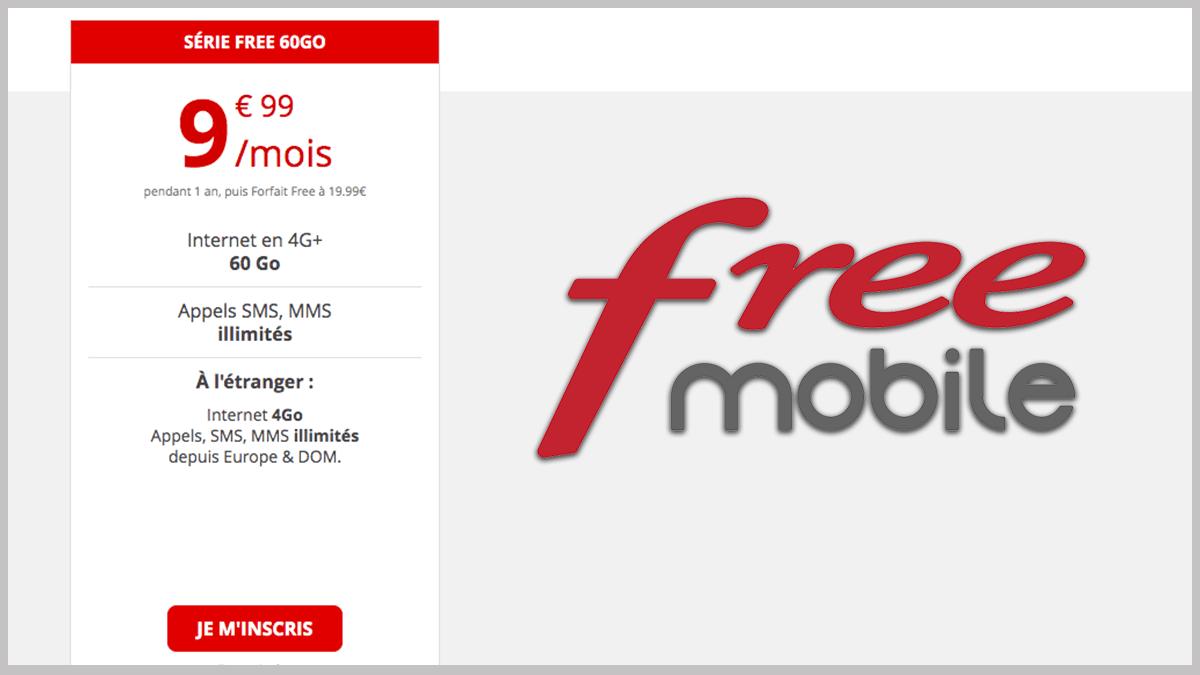 Free mobile Série Free à petit prix