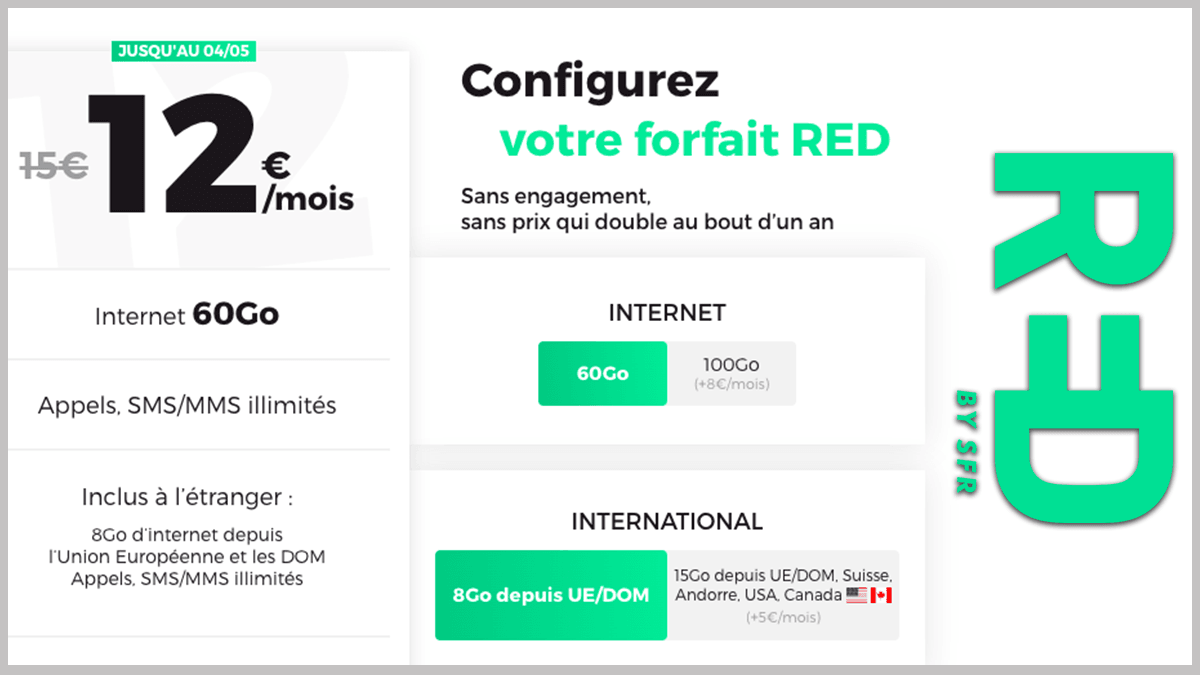 RED by SFR en promotion début mai