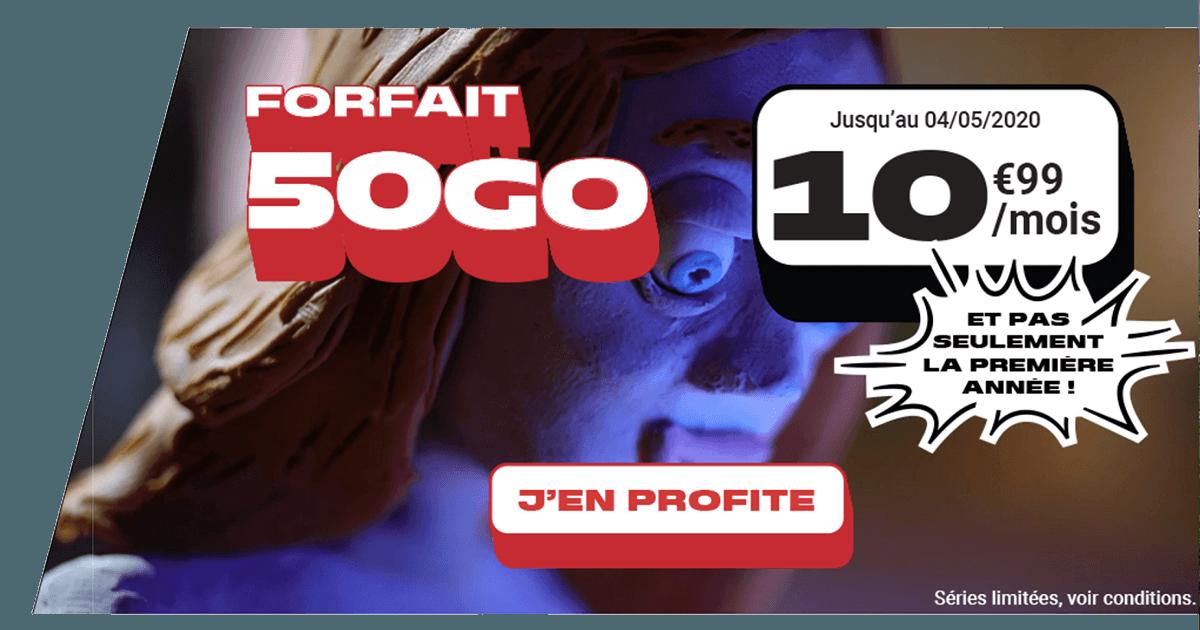 Le forfait 10€ de NRJ Mobile avec 50 Go de data