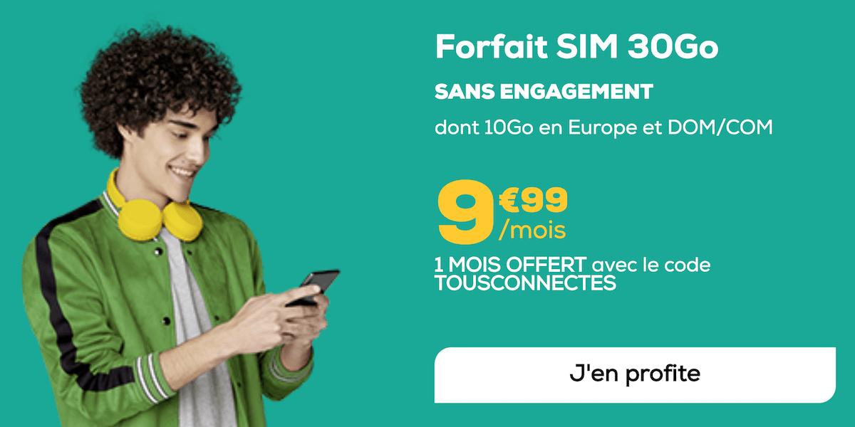Le forfait 10€ proposé en ce moment par La Poste Mobile