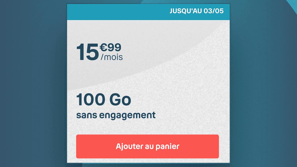 Le forfait 100 Go de B&YOU disponible jusqu'au 3 mai 2020