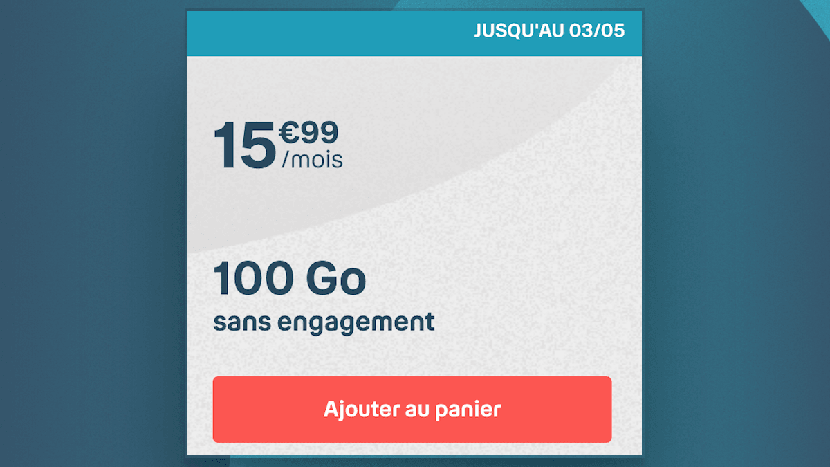 Le forfait 100 Go de B&YOU