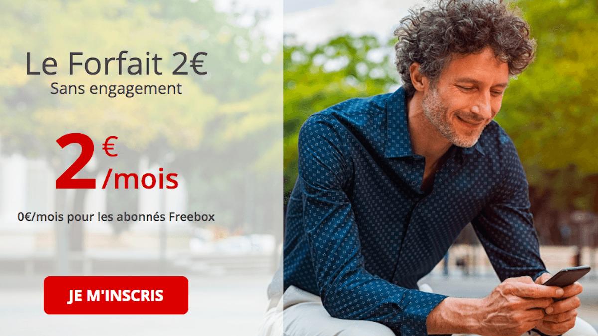 Forfait 2€ chez Free mobile