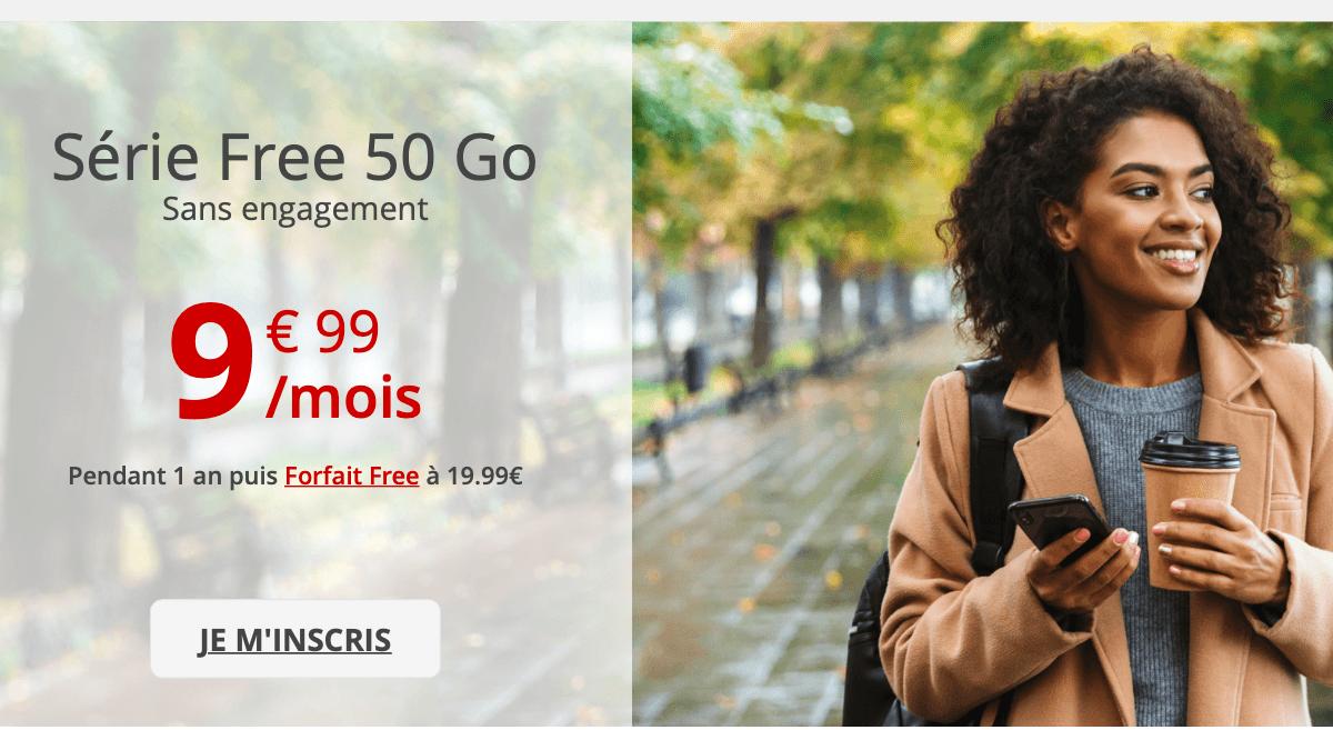 La Série Free, un forfait mobile pas cher tarifé 9,99€/mois.