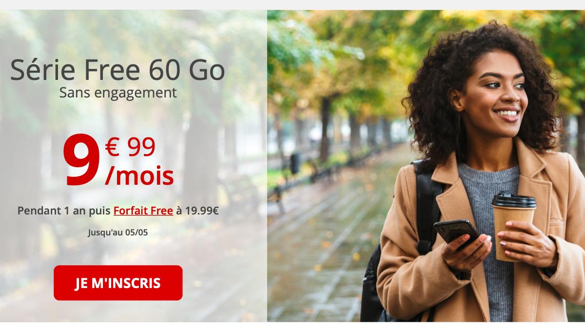 L'offre de Free mobile est un forfait 4G disponible sans engagement à 9,99€/mois.