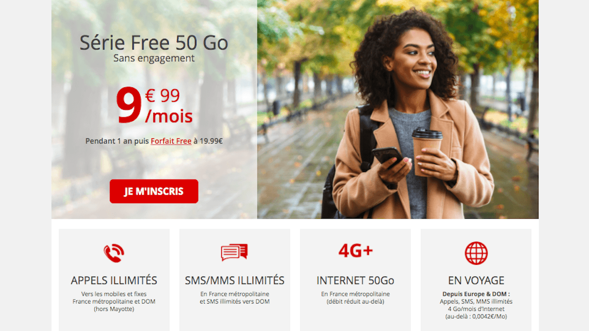 forfait 50 Go Free mobile