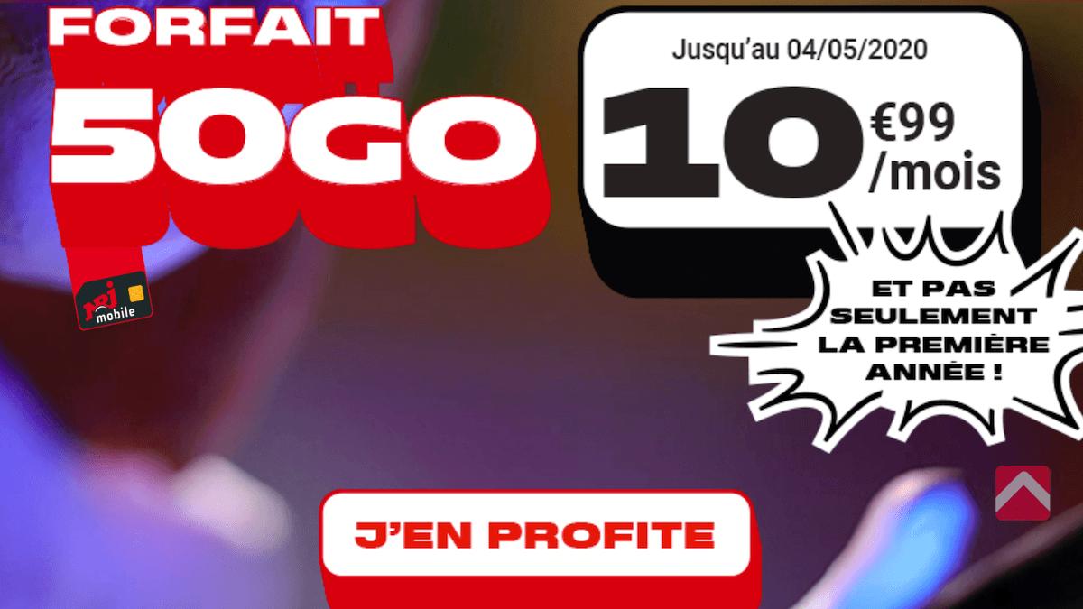 Forfait 50 Go NRJ Mobile