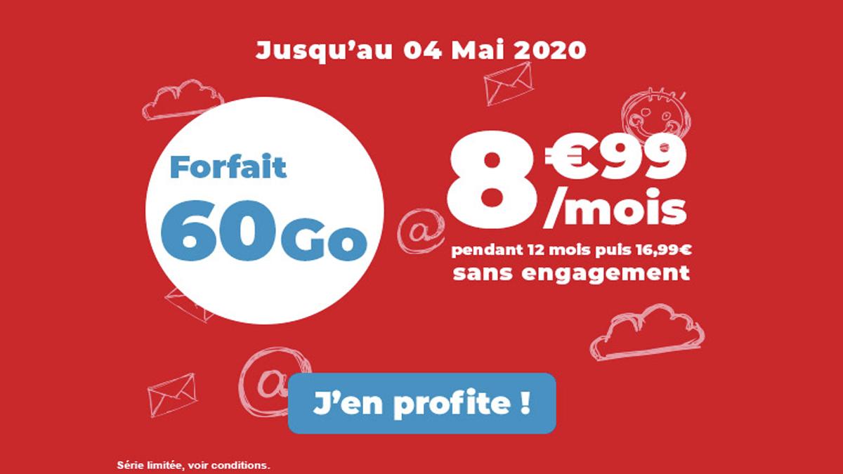 Auchan Telecom et son forfait 60 Go en promotion