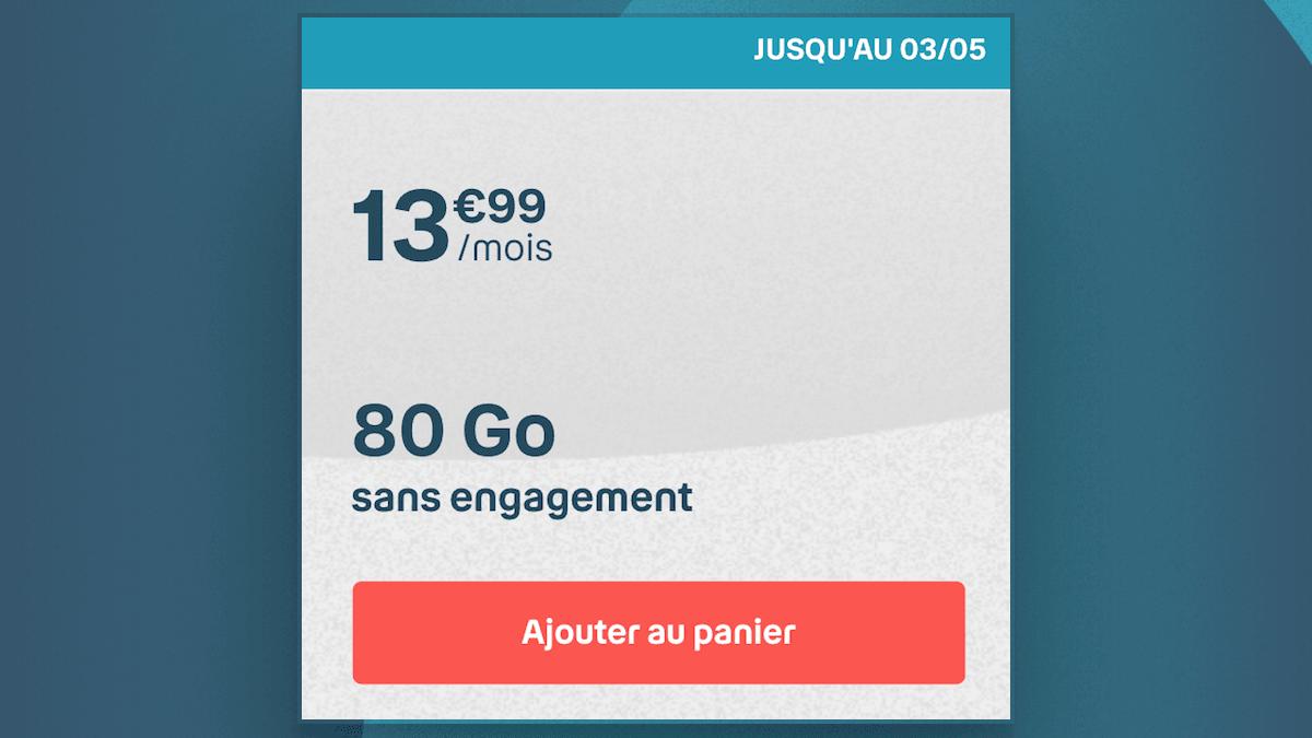 Le forfait 80 Go de B&YOU