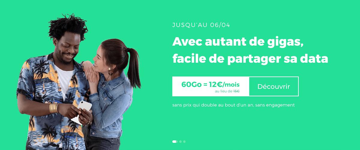 Le forfait 60 Go de RED by SFR en promotion