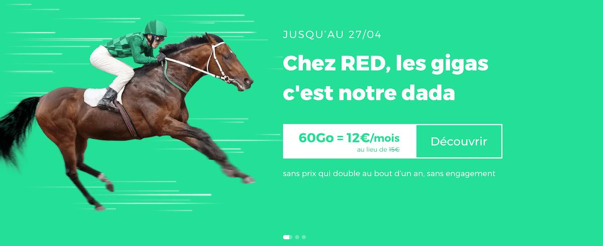 Prolongation du forfait en promo de RED by SFR