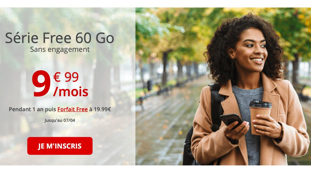 Le forfait Free mobile est disponible à 9,99€ par mois.
