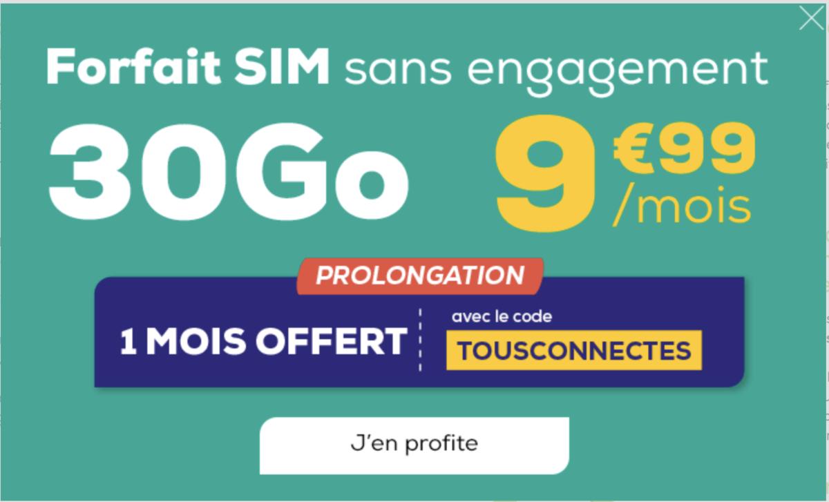 la poste mobile forfait 30 Go promo