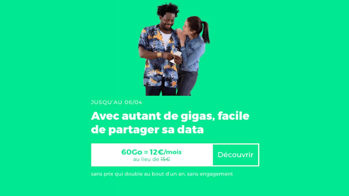 Forfait sans engagement RED by SFR à 12 euros