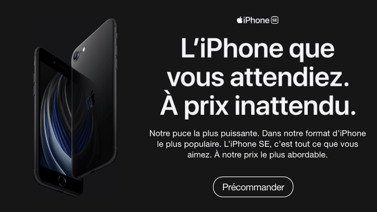 Offre iPhone SE 2020 chez SFR