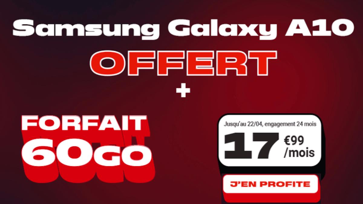 promo forfait mobile 60 Go samsung offer NRJ Mobile