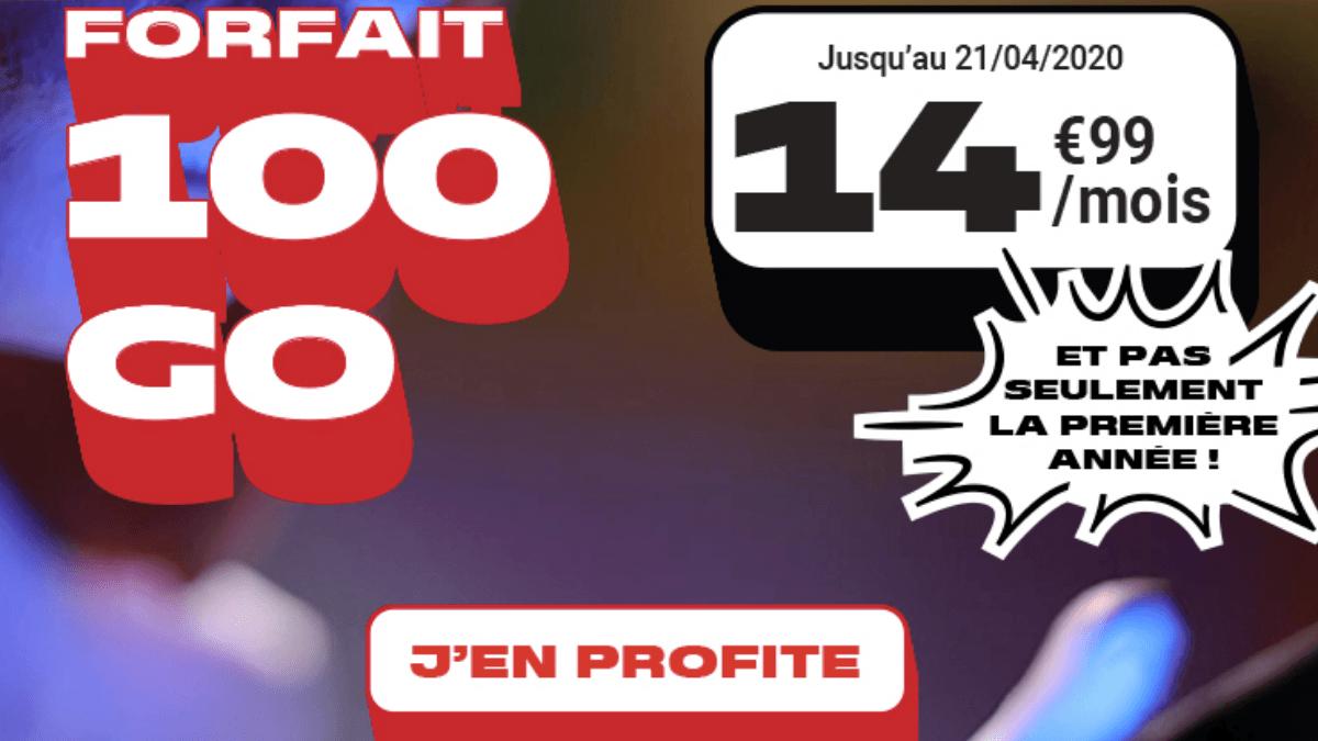 Forfait mobile 100 Go NRJ Mobile.