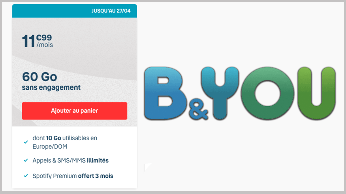 Offre B&YOU à 11,99€ par mois