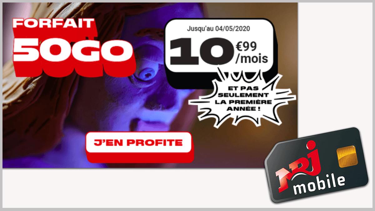 NRJ Mobile et forfaits en promos