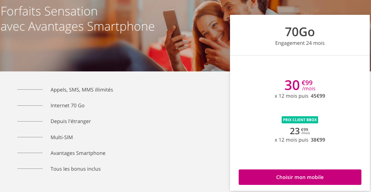 Promo forfait 4G Bouygues Telecom.