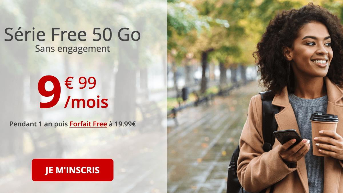 Série Free mobile 50 Go en promotion.