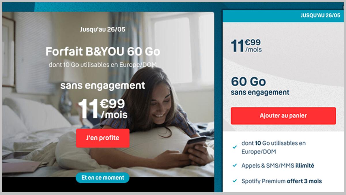 B&YOU en promotion exclusive