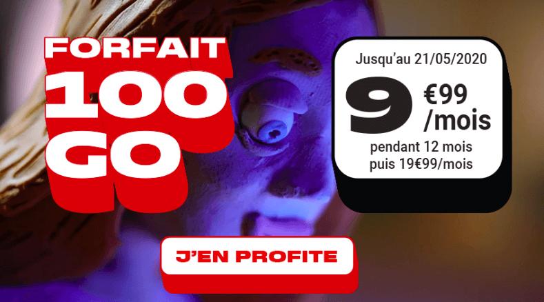 Le forfait 100 Go de NRJ