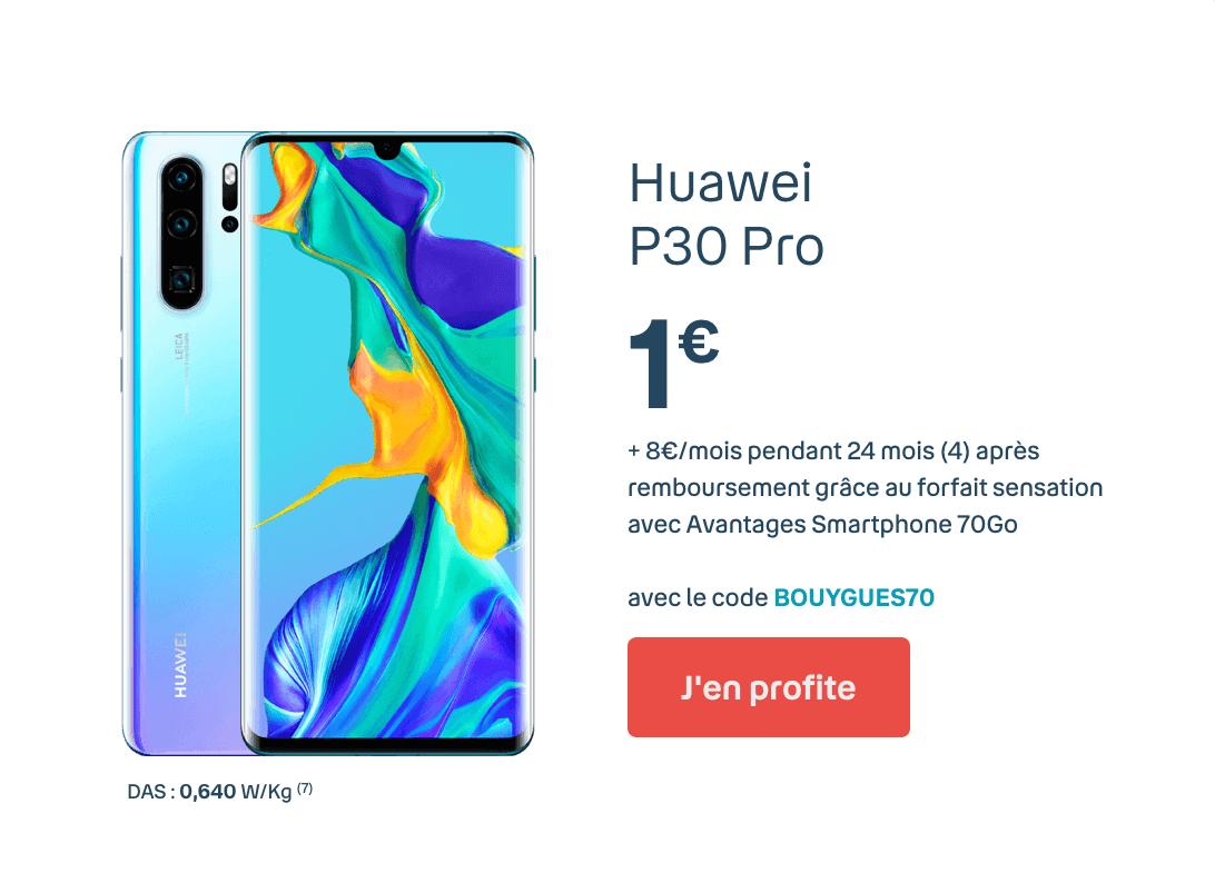Huawei P30 Pro à 1€.